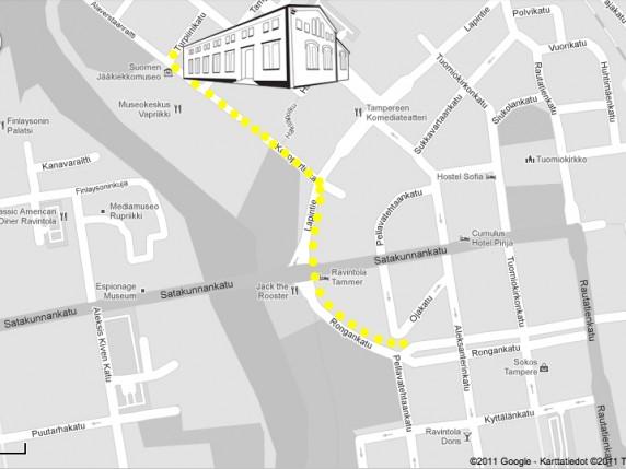 Designtori 2011 kartta